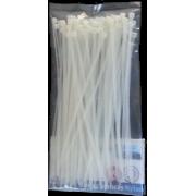 90 Bridas Blancas Nylon 15 cm